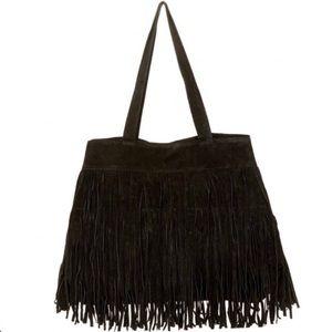 COPY - Black suede fringe Tote